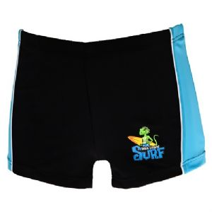 Stick Lizard Surf Swimming Trunks - Black & Blue